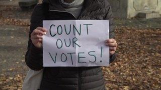 Zurich: Des sympathisants de Joe Biden manifestent