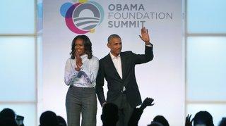 Livres, conférences, série TV: le juteux business du couple Obama