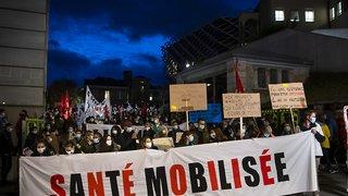 Santé: Le personnel de la santé se fait entendre à Lausanne