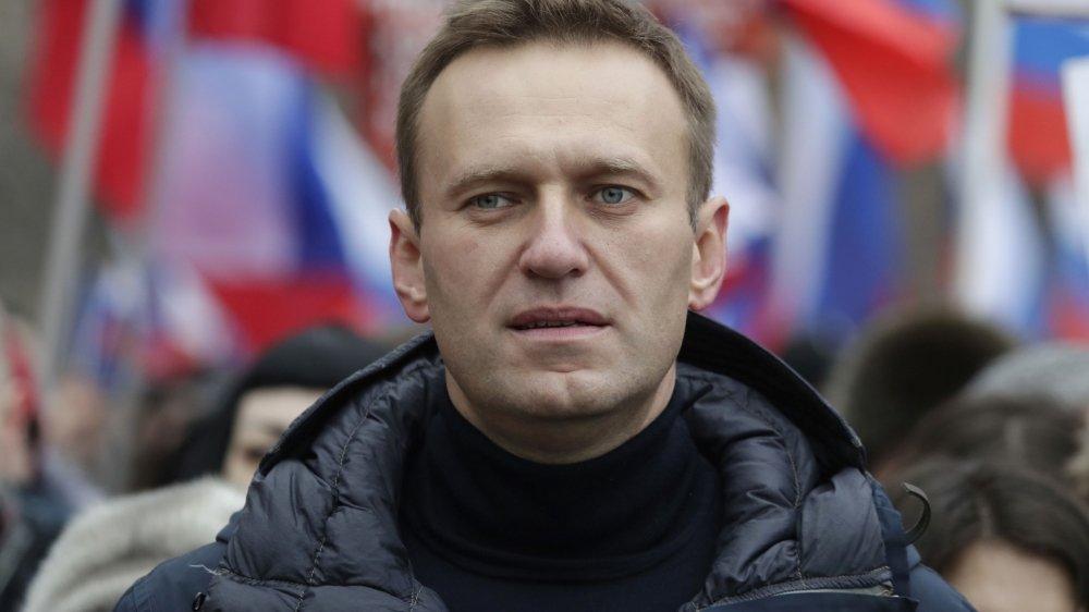 Le chef de l'opposition russe, Alexeï Navalny, participant à une marche en mémoire de Boris Nemtsov, opposant au régime russe assassiné en 2015, le 24 février 2019 à Moscou.