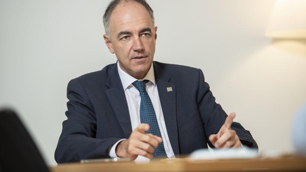 """""""Nous n'avons pas droit à l'erreur, et nous en sommes conscients"""", affirme le président du gouvernement valaisan, Christophe Darbellay."""