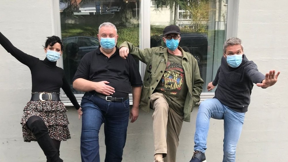 FORMA (tout à gauche) entourée des Dicodeurs Didier Gendraud, Daniel Rausis et Eric Constantin.