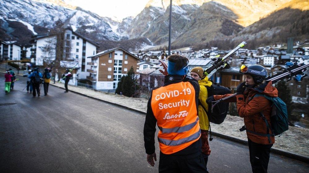 Saas-Fee, comme Zermatt, a déjà pu éprouver les mesures de protection contre le Covid-19.