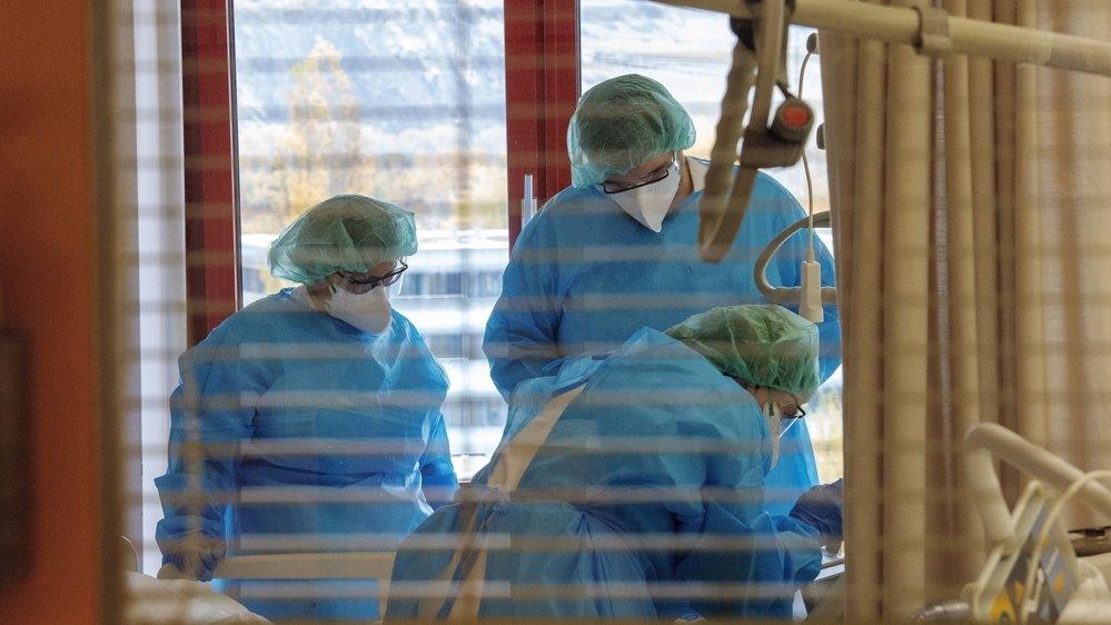 Reportage au soins continus le 5 novembre à l'Hôpital du Valais.