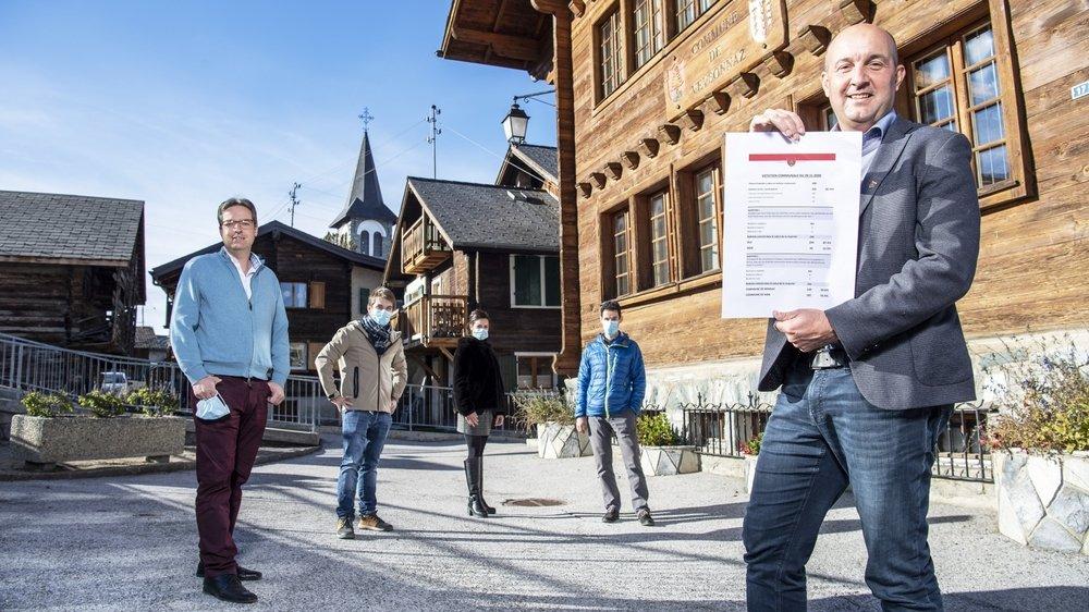 Le Conseil communal de Veysonnaz oeuvre depuis deux ans au projet de fusion. Il a été largement soutenu par la population.