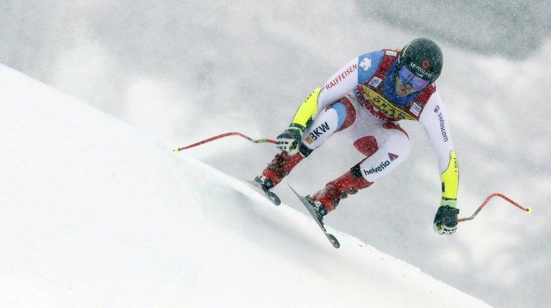 Ski alpin: de retour de blessure Mauro Caviezel remporte le super-G de Val d'Isère