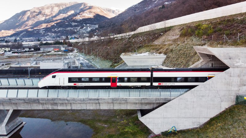 Trafic ferroviaire: entrée en vigueur du nouvel horaire CFF et mise en service du Ceneri