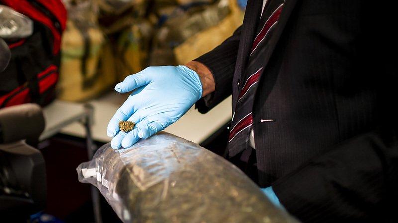 La police tessinoise a saisi une grosse quantité de haschisch et de cannabis lors du démantèlement d'un trafic de drogue international (photo symbolique).