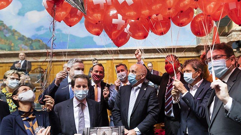 Politique: le National fête le 70e anniversaire d'Ueli Maurer