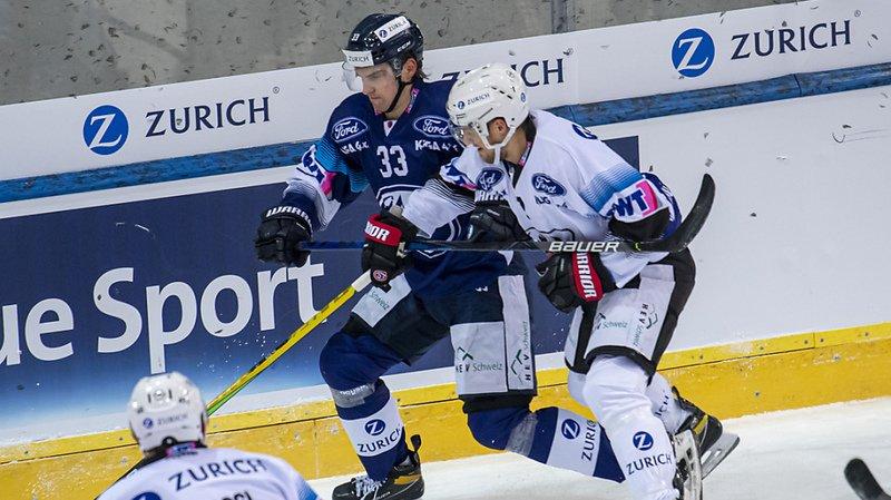 Duel entre le Fribourgeois Benoît Jecker (en blanc) et Julius Nättinen.