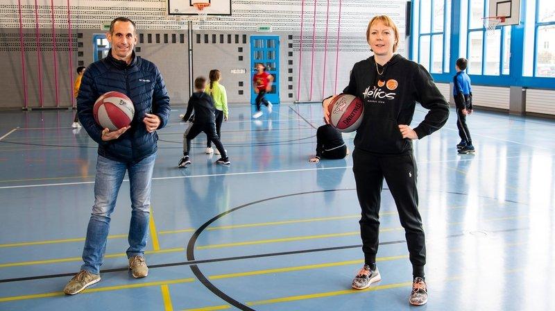 Saxon: quand le basket s'invite à l'école