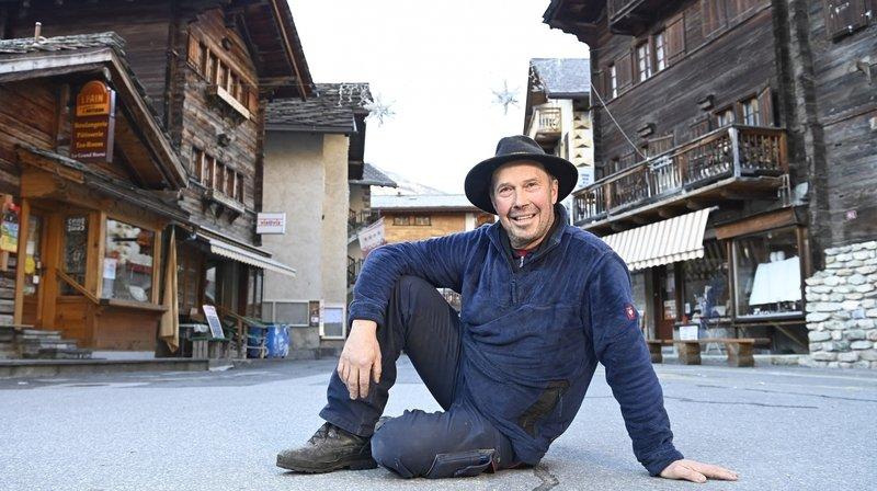 Marius Pannatier, à l'aise au coeur de son cher village d'Evolène