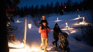 Crans-Montana: illuminer l'hiver en marchant le long du Chemin des lanternes