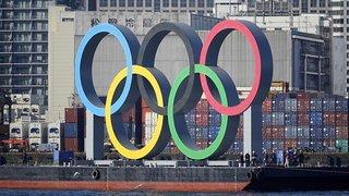 JO 2021: des anneaux olympiques géants réinstallés à Tokyo