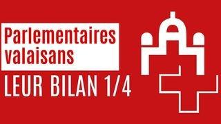 Bilan des parlementaires valaisans (1/4)