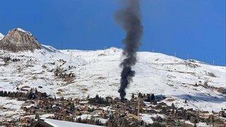 Un feu de chantier maîtrisé à Verbier