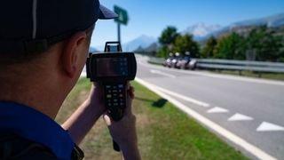 Valais: un chauffard arrêté à 239km/h sur l'autoroute