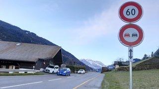 Monthey-Troistorrents: la vitesse abaissée à 60 km/h