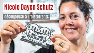 Nos artisans ont du talent: Nicole Dayen Schütz pratique le découpage sur papier à Troistorrents