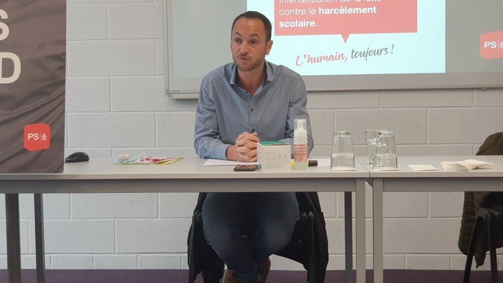 Mathias Reynard a lancé sa campagne médiatique en conviant la presse mardi à Sion, dans les locaux de l'OSEO qu'il préside.