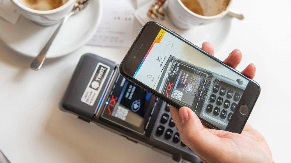 En Suisse, l'usage des paiements sans contact (ici Twint) a plus que doublé durant les douze derniers mois.