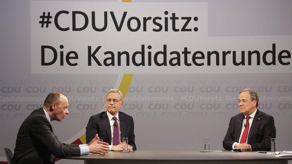 Après le long règne d'Angela Markel, la CDU doit élire demain son nouveau président.