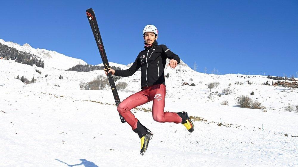 Arnaud Gasser s'éclate dans la pratique du ski-alpinisme qui l'engage au niveau de la Coupe du monde.