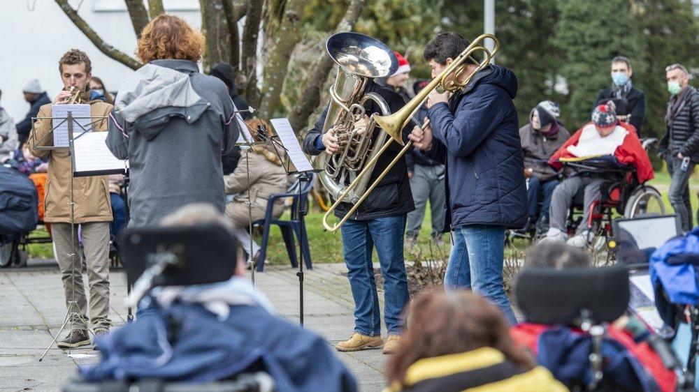 Les cuivres de la Sinfonietta se produisaient pour la première fois en institution.