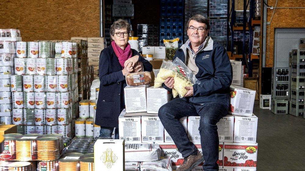 En temps normal, Fabienne et Georges Galloni fournissent quelque 400 restaurants en Valais. Actuellement, ils n'en livrent qu'une trentaine qui proposent un service à l'emporter.