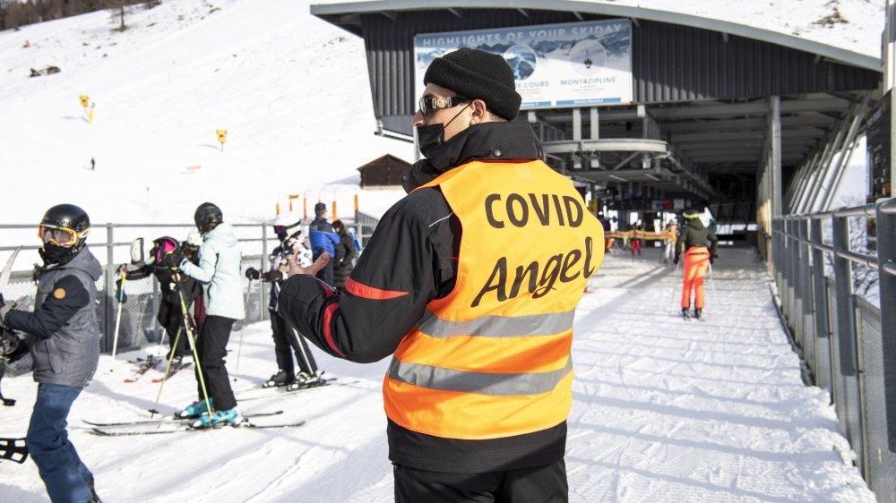 La fréquentation des domaines skiables valaisans a baissé de près d'un tiers, entre Noël 2019 et 2020. Image d'illustration