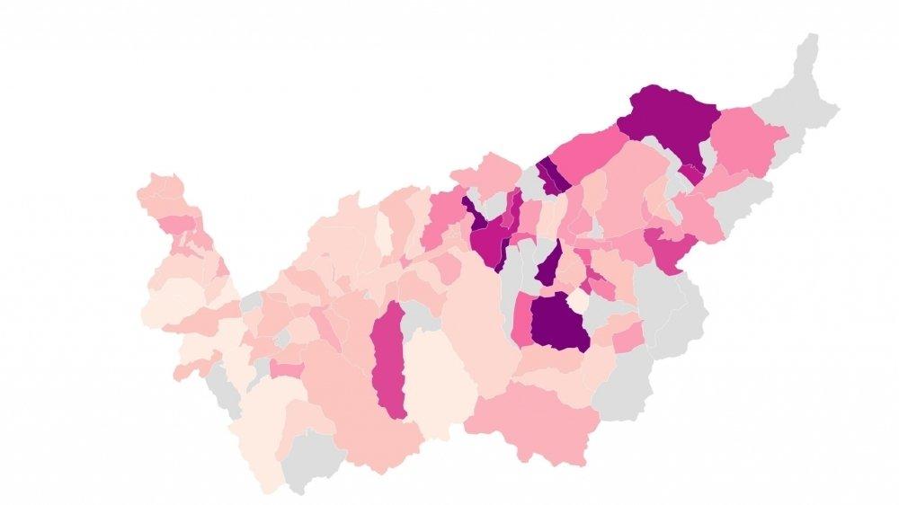 Chaque semaine, sur la base des statistiques cantonales, nous vous proposons des cartes et des graphiques pour mieux comprendre et visualiser l'épidémie dans le canton.