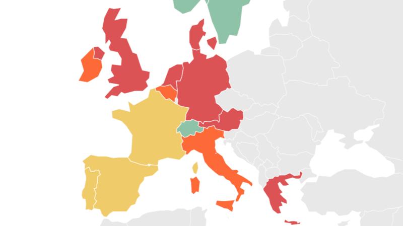Coronavirus: confinement, couvre-feu ou restrictions… la carte des mesures prises en Europe