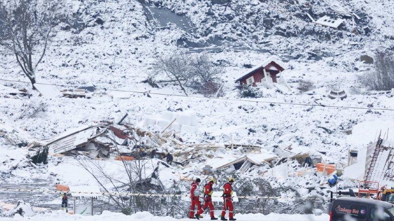 Norvège: le bilan du glissement de terrain monte à quatre morts et six personnes disparues