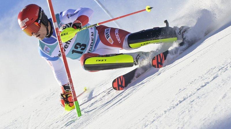 Loïc Meillard en action.