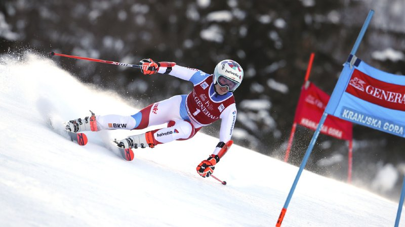 Ski alpin: Gisin, 3e à Kranjska Gora, s'offre un premier podium en géant