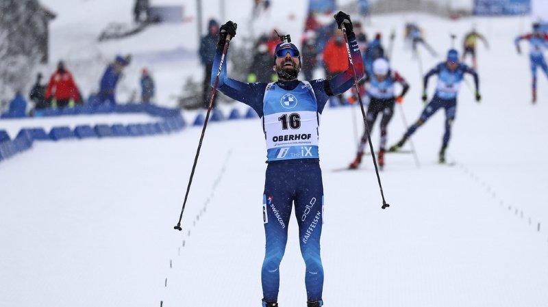 Biathlon: le Valaisan Benjamin Weger de retour sur un podium de Coupe du monde