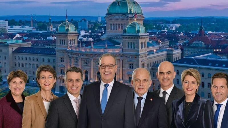 Conseil fédéral: la photo officielle change de perspective pour 2021