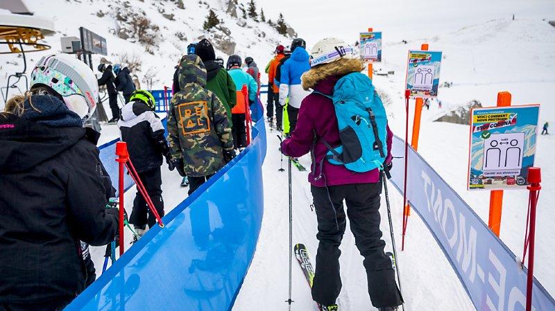 Coronavirus: les skieurs ont été disciplinés à Noël