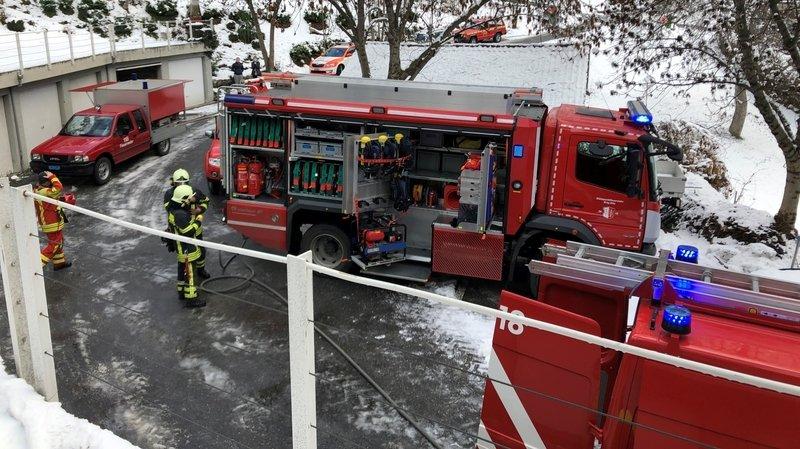 Les pompiers de Brigue-Glis sont intervenus lundi matin.
