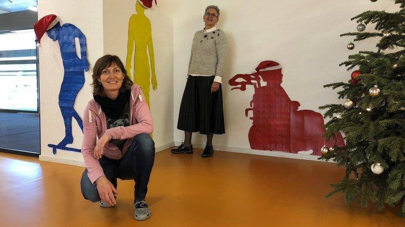 Sierre: 52 silhouettes d'élèves parsèment les couloirs de l'institut Notre-Dame de Lourdes