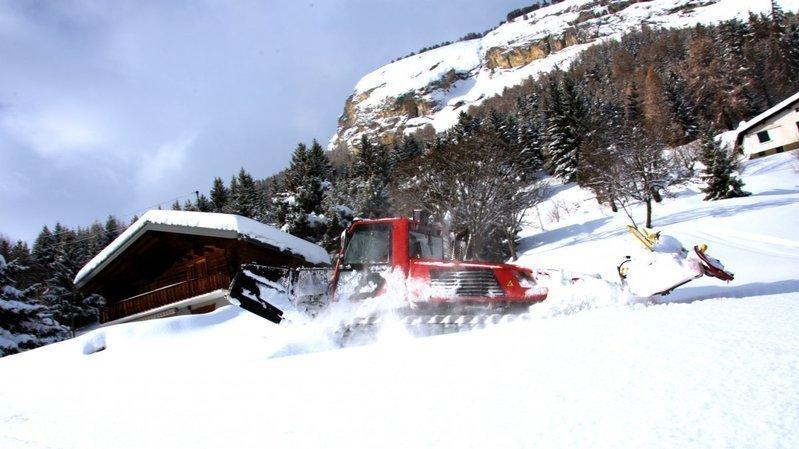 Les récentes chutes de neige permettent la réouverture du téléski des Mayens de Conthey.