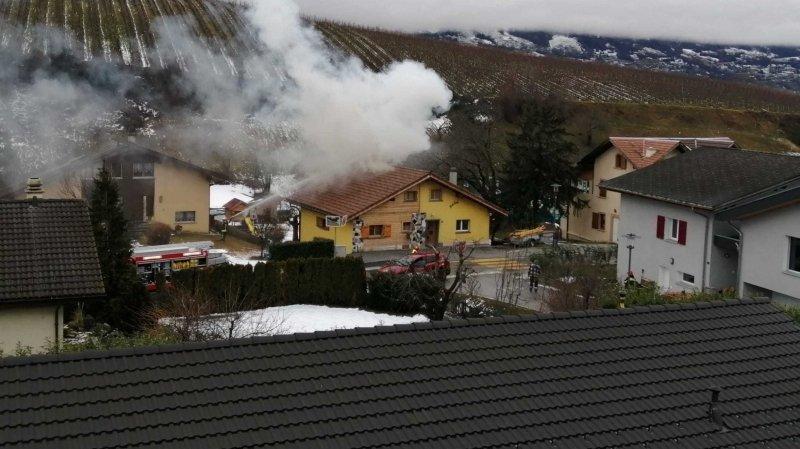 Champlan: début d'incendie dans un bâtiment du village