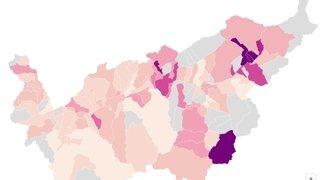 Coronavirus: les données épidémiologiques montrent une baisse des cas en Valais
