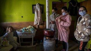 Espagne: à Madrid, un bidonville sans électricité en pleine vague de froid