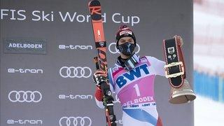Loïc Meillard signe son premier podium de la saison à Adelboden, Mecque du géant