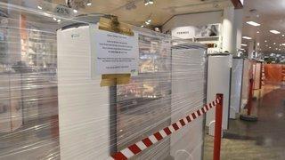 Coronavirus et fermeture: librairie, magasin de sport, grande surface, la réaction des commerçants valaisans