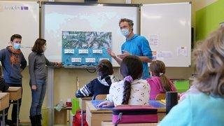 Vallée du Trient: des aventuriers en classe pour parler écologie