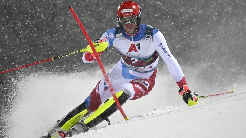 Quatrième au classement de la discipline, Ramon Zenhäusern est le meilleur slalomeur suisse cette saison.