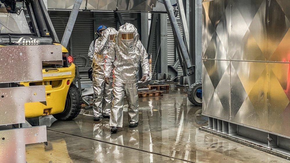 Des pompiers du site chimique CIMO de Monthey ont été appelés en renfort.