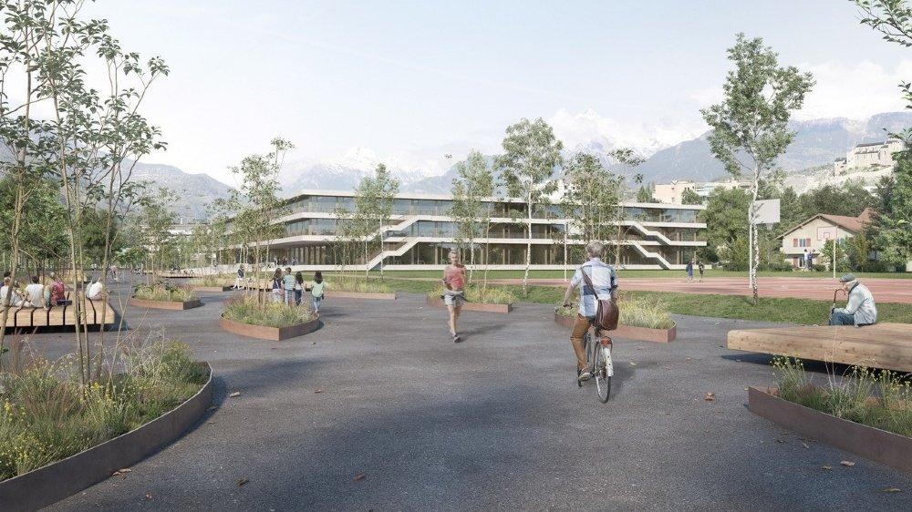 Le futur collège de Sion sera construit sur le cours Roger-Bonvin.